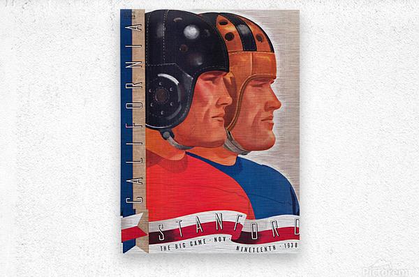 1938 Cal vs. Stanford Big Game Program Cover Art  Metal print