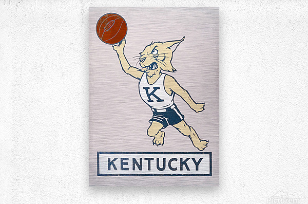 Vintage Kentucky Wildcat Basketball Art  Metal print
