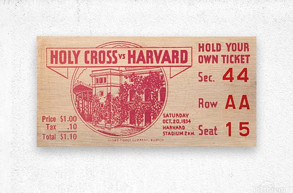 1934 Holy Cross vs. Harvard  Metal print