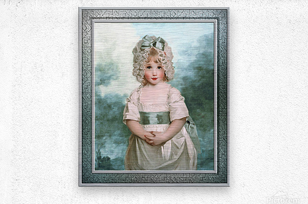 Miss Charlotte Papendick as a Child by John Hoppner Classical Art Xzendor7 Old Masters Reproductions  Metal print