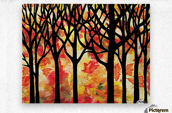 Fall In The Forest  Metal print