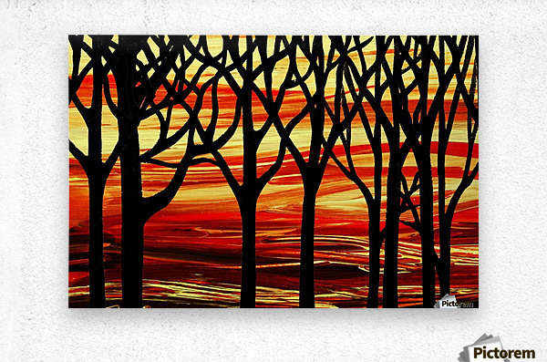 Indian Summer Abstract Forest  Metal print