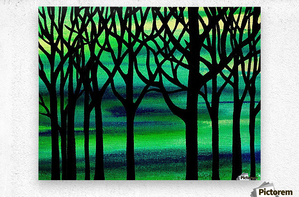 Abstract Spring Forest  Metal print