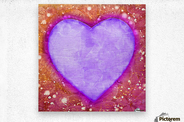 Vibrant Love Digital Art Collage  Metal print