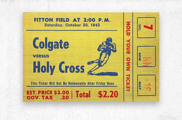 1943 Colgate vs. Holy Cross  Metal print