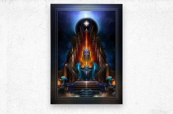 The Golden Vision Of Arsencia Fractal Art Composition  Metal print