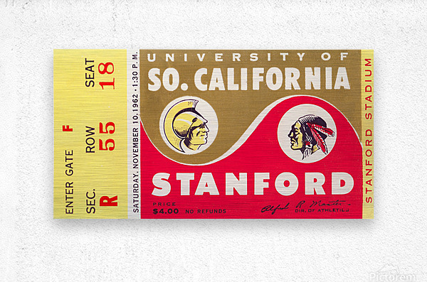 1962 Stanford Indians vs. USC Trojans  Metal print