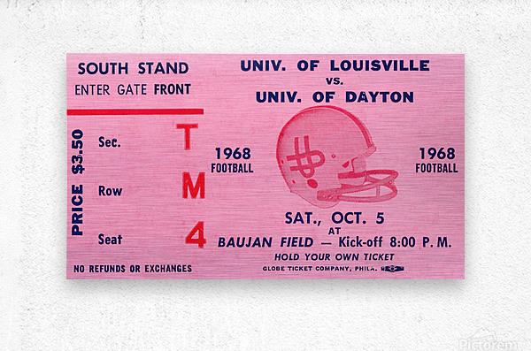 1968 Louisville Cardinals  vs. Dayton Flyers   Metal print