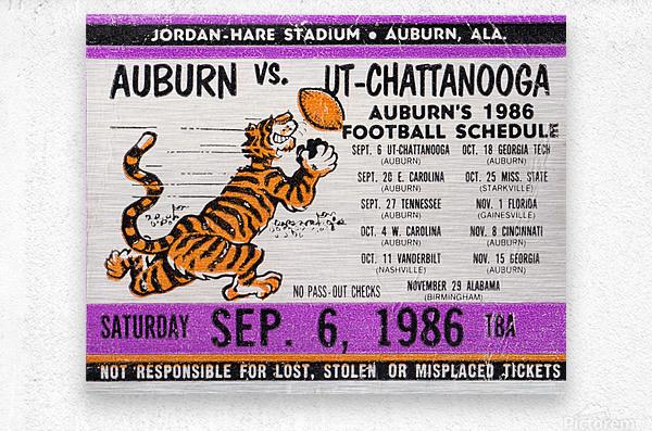 1986 Auburn Tigers vs. Chattanooga Mocs   Metal print