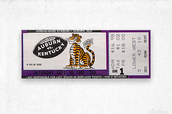 1988 Auburn Tigers vs. Kentucky Wildcats  Metal print