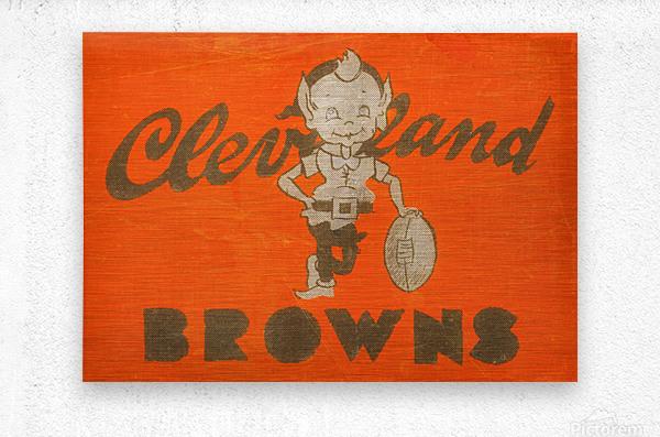 Vintage Cleveland Browns Wall Art  Metal print