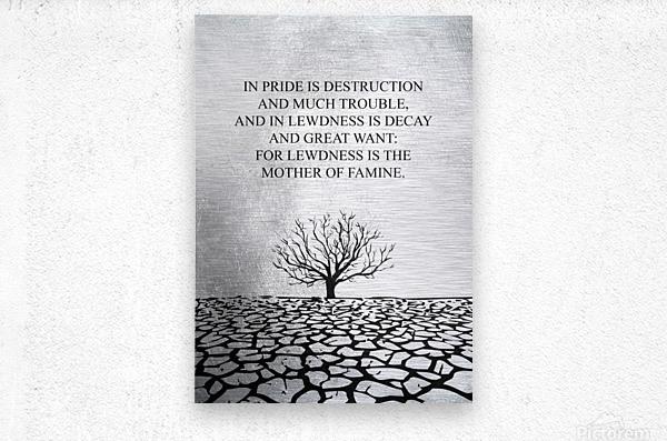 Tobit Parched Land Motivational Wall Art  Metal print