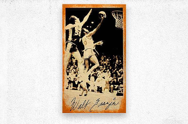1976 New York Knicks Walt Frazier Art  Metal print