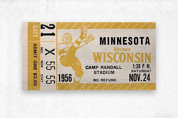 1956 Wisconsin Badgers vs. Minnesota Golden Gophers  Metal print