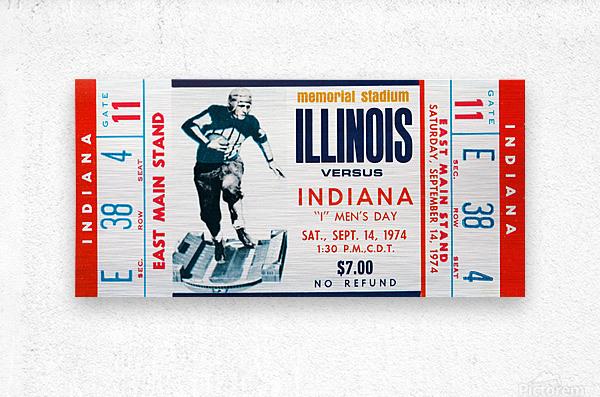 1974 Indiana Hoosiers vs. Illinois Fighting Illini  Metal print