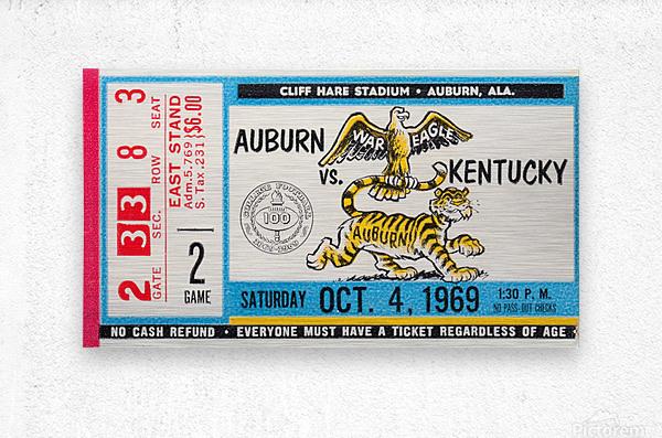 1969 Kentucky Wildcats vs. Auburn Tigers  Metal print