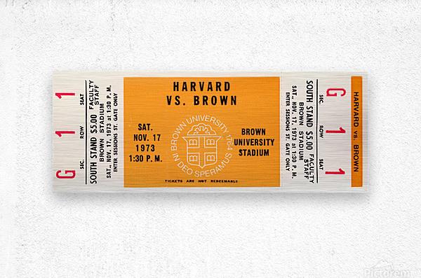 1973 Brown Bears vs. Harvard Crimson  Metal print