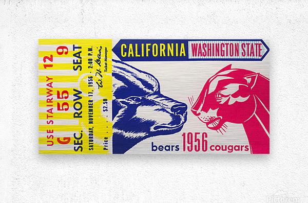 1956 Washington State Cougars vs. Cal Bears  Metal print