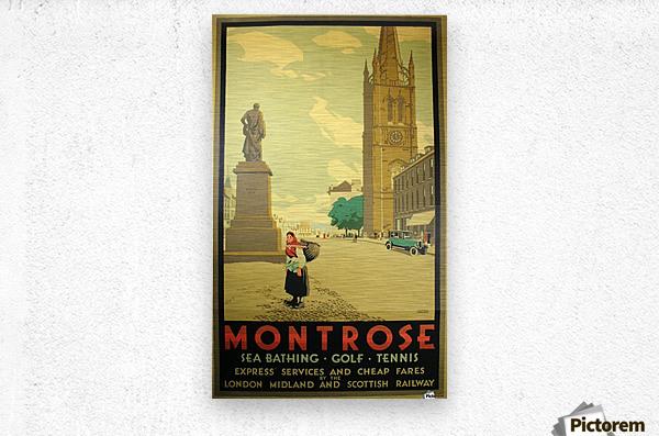 Montrose vintage travel poster  Metal print