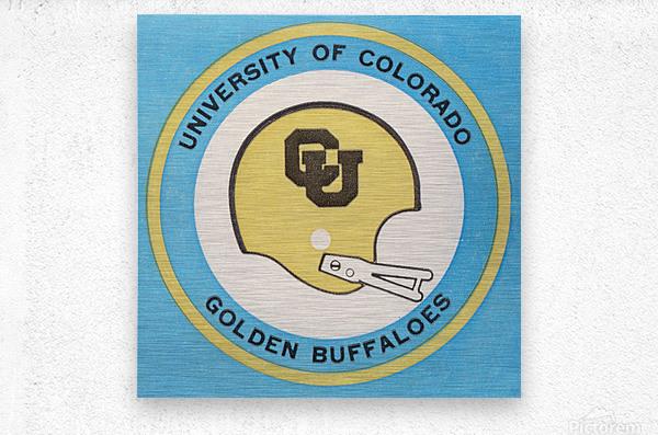 1973 Colorado Buffaloes Football Helmet Art  Metal print