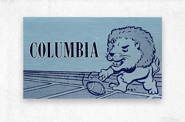 1961 Columbia Lions Football Ticket Stub Remix Art  Metal print