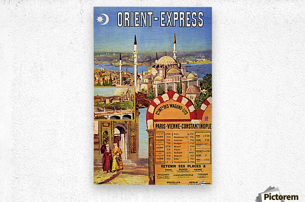 1891 Vintage Travel Poster Orient Express Ochoa y Madrazo  Metal print
