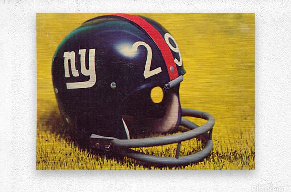1969 New York Giants Vintage Football Helmet Photo Art  Metal print