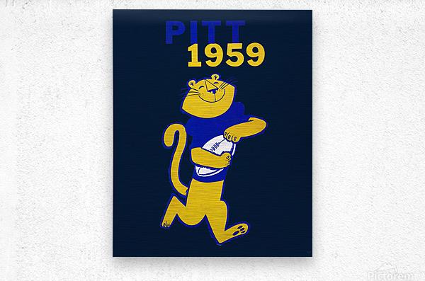 1959 Pitt Panther Vintage Football Art  Metal print