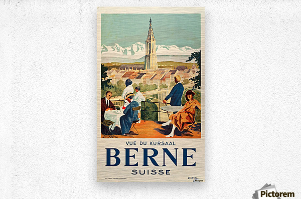 Bern, Switzerland Travel Poster  Metal print
