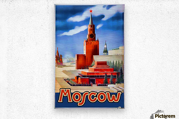 Imperial Airways travel poster for Moscow  Metal print
