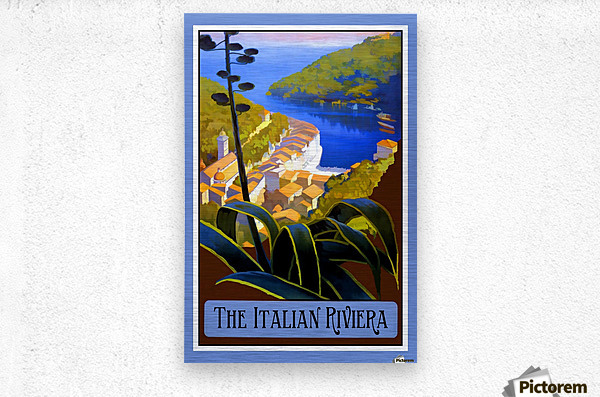 The Italian Riviera  Metal print