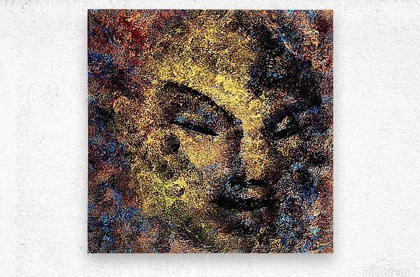 Emerging Buddha  Metal print