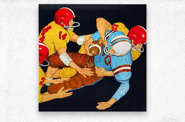 1959 Vintage Football Tackle Art   Metal print