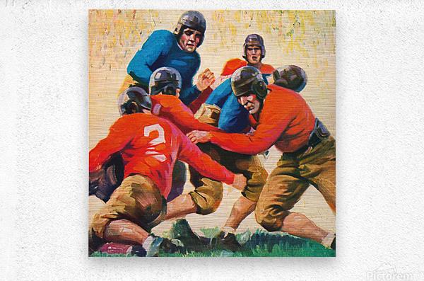 1937 Vintage Football Art  Metal print