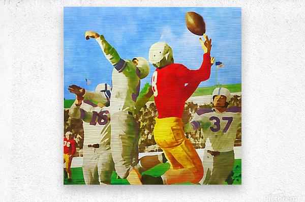 1947 Vintage Football Art Gift Idea  Metal print
