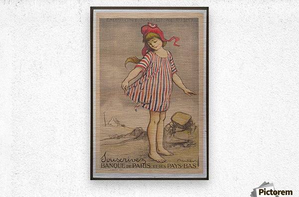 Vintage---Little-Girl  Metal print