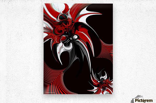 Red & Black Formation  Metal print