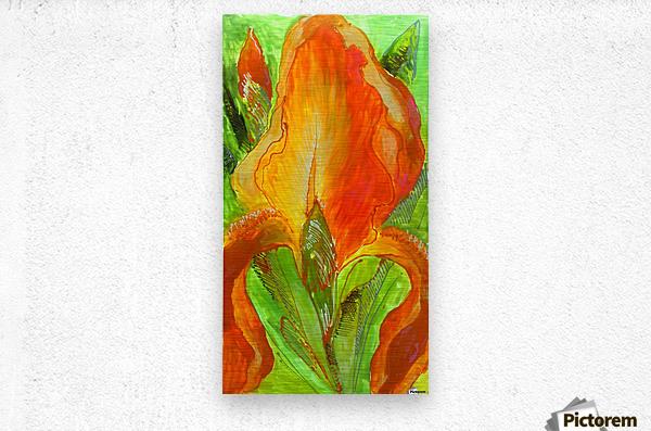 Polyptic with irises 4 by Vali Irina Ciobanu  Metal print