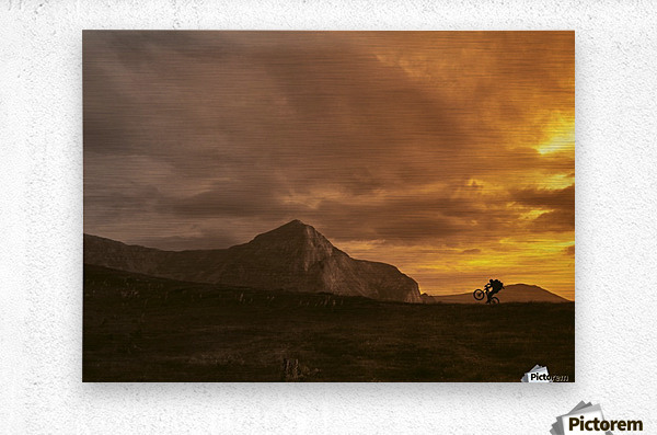 Middle earth  Metal print