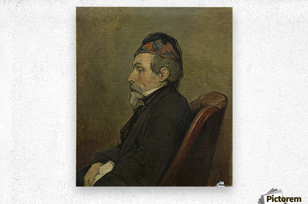 Portrait of Johan Hendrick Louis Meyer, Marine Painter  Metal print