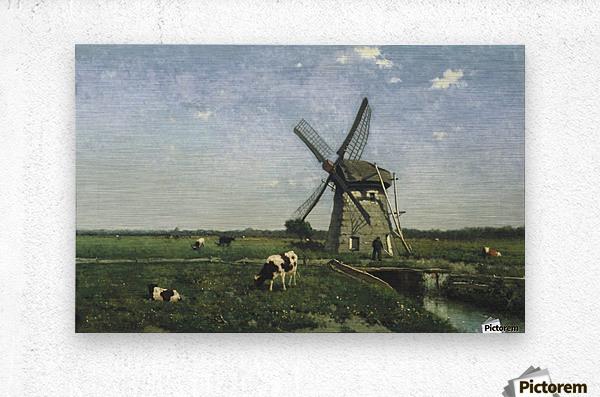 Landscape with Windmill near Schiedam  Metal print