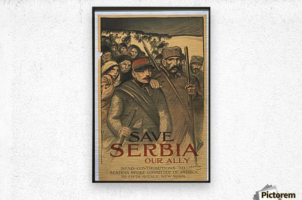 Vintage---Save-Serbia  Metal print