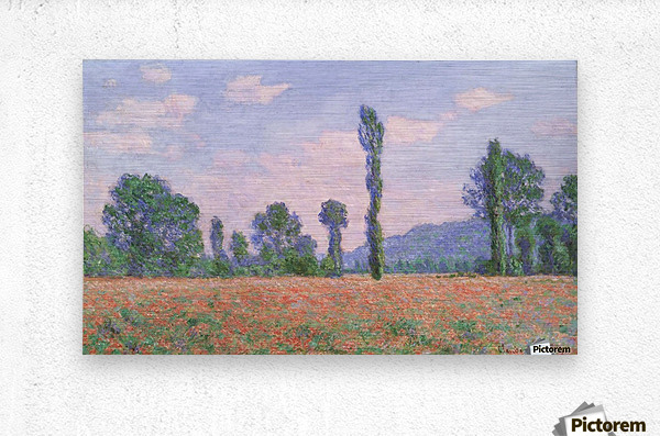 Field of Poppies near Giverny  Metal print