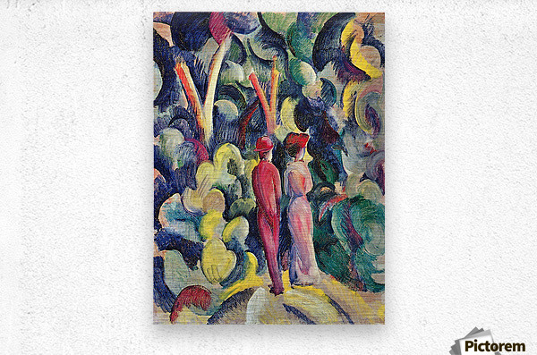 Couple in the forest by August Macke  Metal print