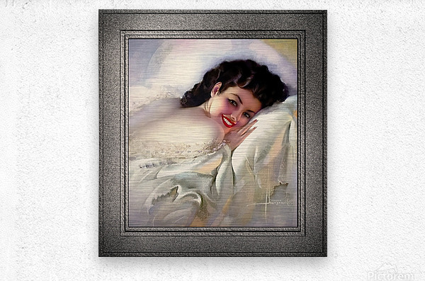 Sweet Dreams by Rolf Armstrong Vintage Illustration Xzendor7 Art Reproductions  Metal print