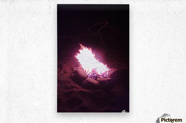 Fired  Metal print