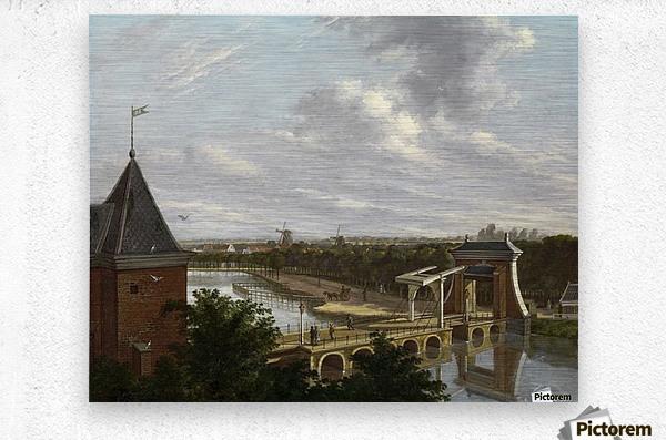 De Torensluis met de Jan Roodenpoortstoren te Amsterdam, 1829  Metal print