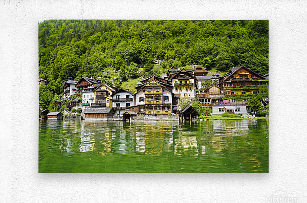 Snapshot in Time Hallstatt in the Upper Austria Alps 1 of 3  Metal print