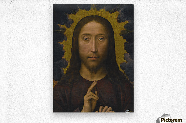 Christ Blessing  Metal print