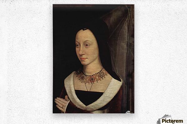 Portrait of Maria Portinari, 1475  Metal print